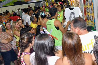 Caricaturista  na Central do Carnaval